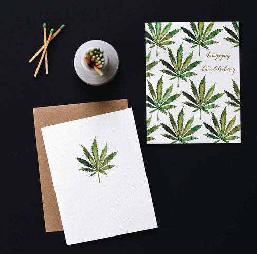 Cannabis Birthday Card