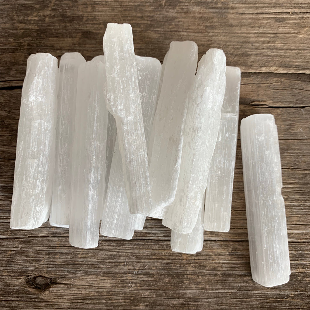 Selenite Raw Stick Wand