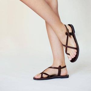 Toe Wrapper Double Leather Sandal
