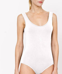 Bamboo Tank Body Suite White