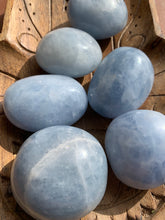 Load image into Gallery viewer, Blue Calcite Large Palm Stone