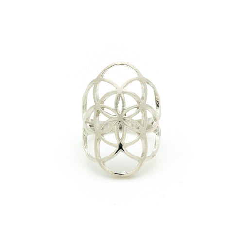Seed of Life Ring Silver