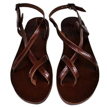 Load image into Gallery viewer, Toe Wrapper Double Leather Sandal