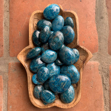 Load image into Gallery viewer, Blue Apatite Medium  Palm Stone