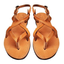 Load image into Gallery viewer, Leather Flat Sandal