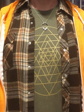 Load image into Gallery viewer, Men's Sri Yantra T-Shirt Olive/Gold
