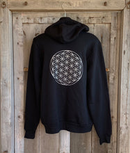 Load image into Gallery viewer, Hoodie Flower of Life Sweat Shirt Black/Silver