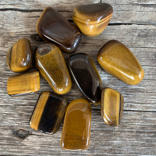 Tigers Eye Medium Tumbled Stone