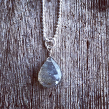 Load image into Gallery viewer, Cloudy Day Teardrop Necklace