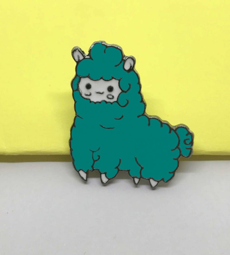 Pin de Alpaca Pop Turquesa