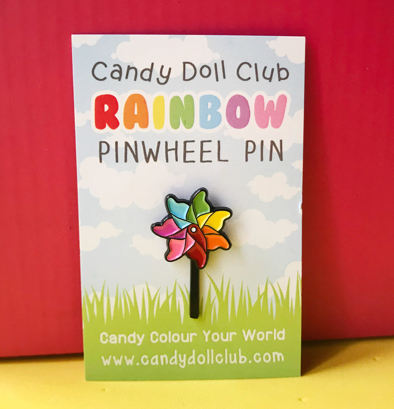 "Pinwheel Pin - ""Candy Doll Club"""