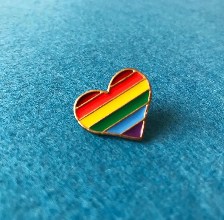 Rainbow Love - LGBTQ + Pride Pin