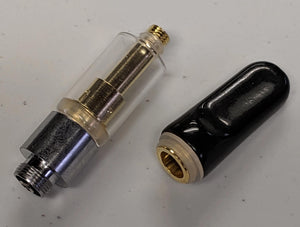 black ceramic tip with silver and gold 023 base