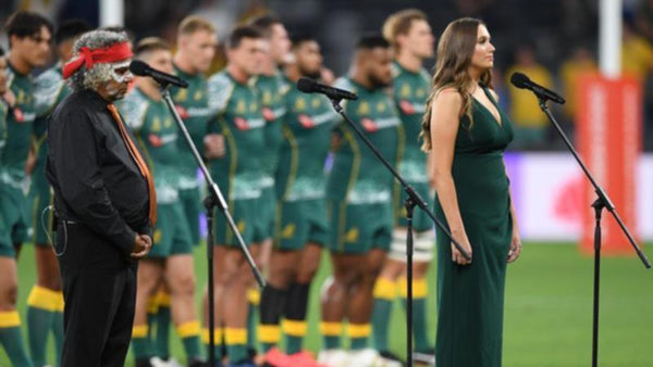 The Wallabies Sing. Did you hear the Anthem sung?