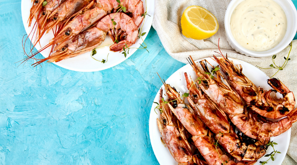 BBQ Prawns with Lemon Myrtle Aioli
