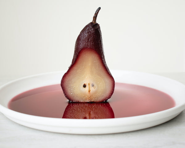 The Best Poached Pears with Davidson Plum Syrup