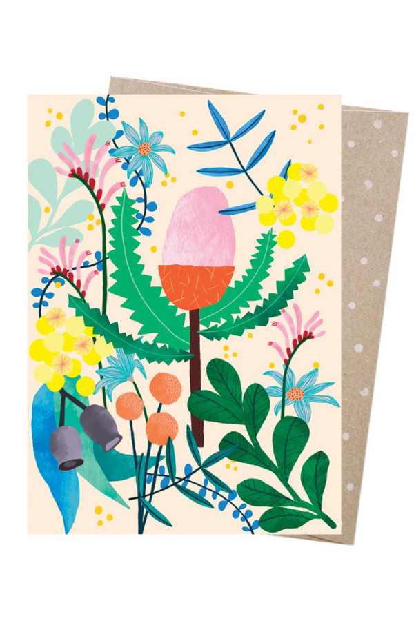 greeting card - aussie florals