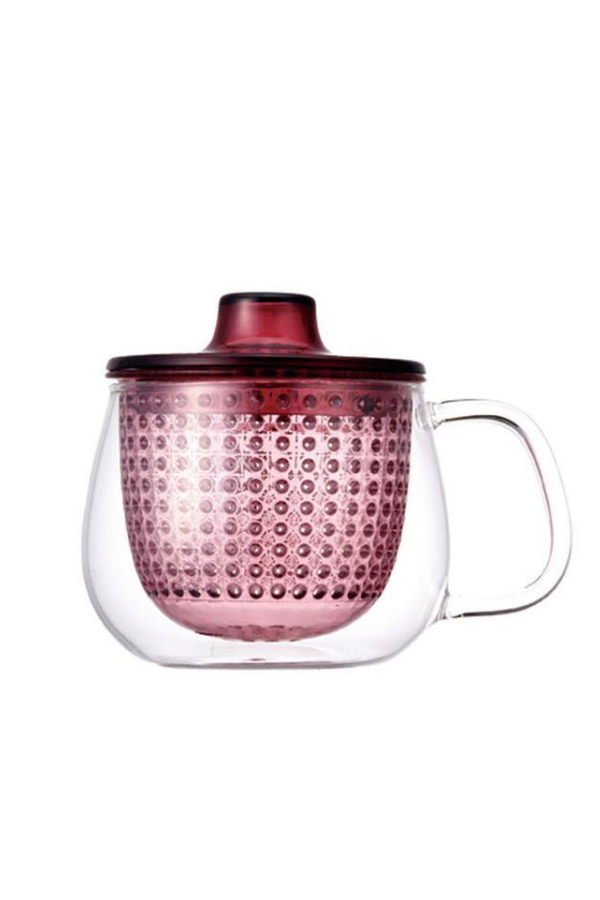 tea infuser and mug - red