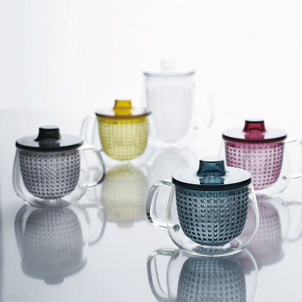 tea infuser and mug - yellow