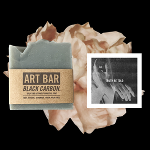 Black Carbon Charcoal Vegan Soap + Limited Edition Print - Jen Black