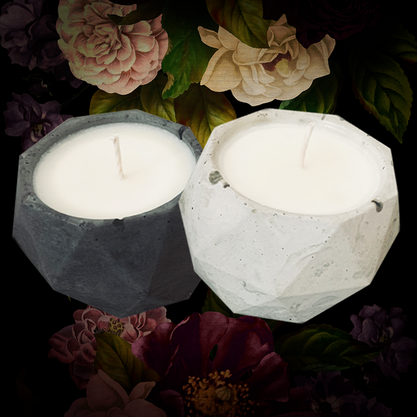 BLACKLIT CANDLE / Salt + Pepper Set - Jen Black