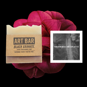 Black Granate Vegan Soap + Limited Edition Print - Jen Black