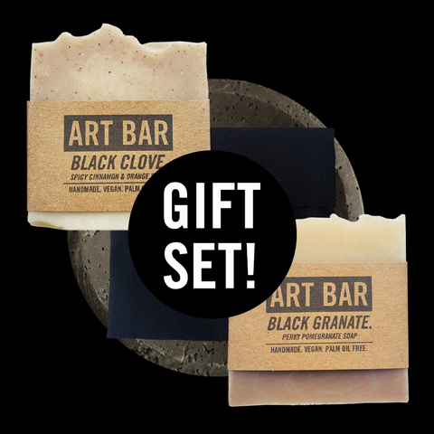 ART BAR GIFT SET (Art Bars + Soap Dish + Travel Case) - Jen Black