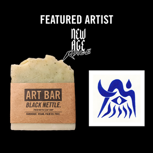 Black Nettle Vegan Soap + Limited New Age Rage Print - Jen Black