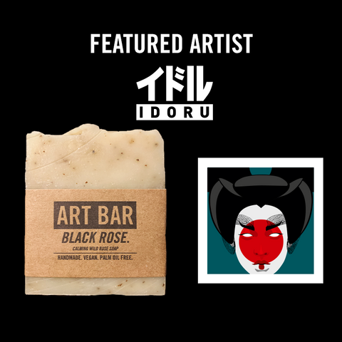 Black Rose Vegan Soap + Limited Idoru Creative Print - Jen Black