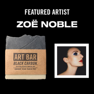 Black Carbon Vegan Soap + Limited Zoë Noble Print - Jen Black