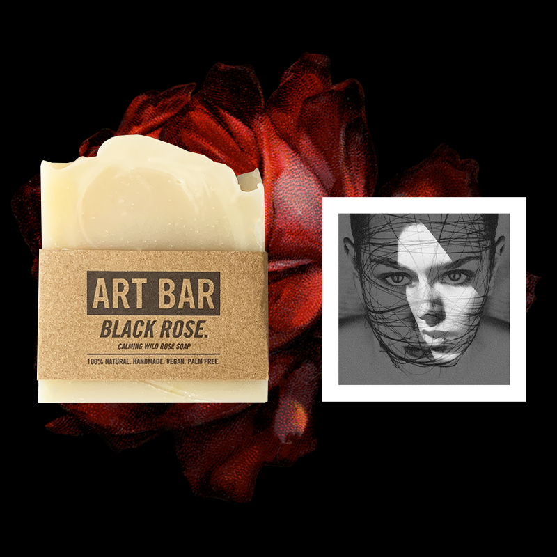 Black Rose Vegan Soap + Limited Edition Print - Jen Black