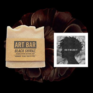 Black Shiraz Vegan Soap + Limited Edition Print - Jen Black