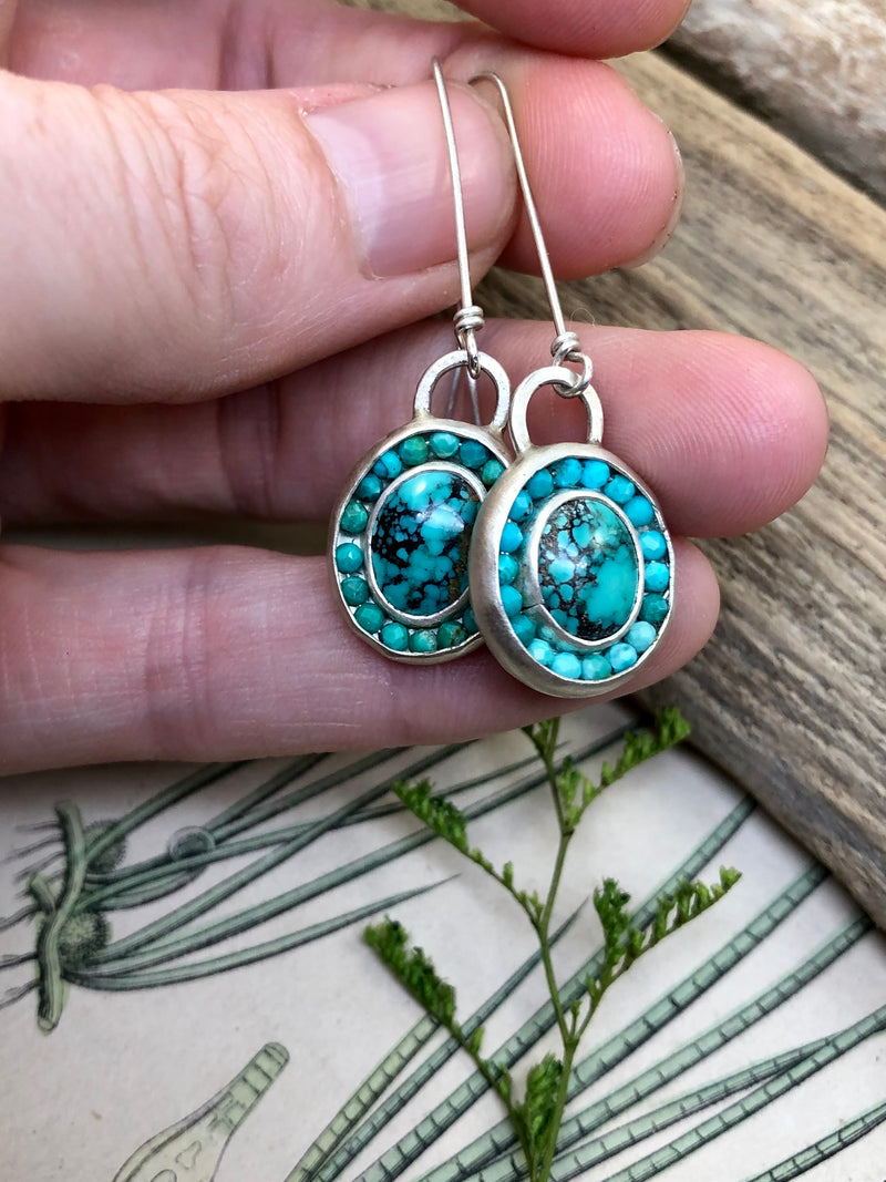 Turquoise on Turquoise Aurora Earrings