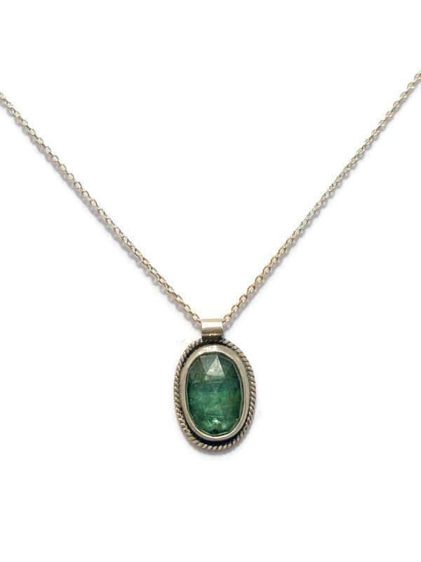 Green Kyanite Oval Necklace