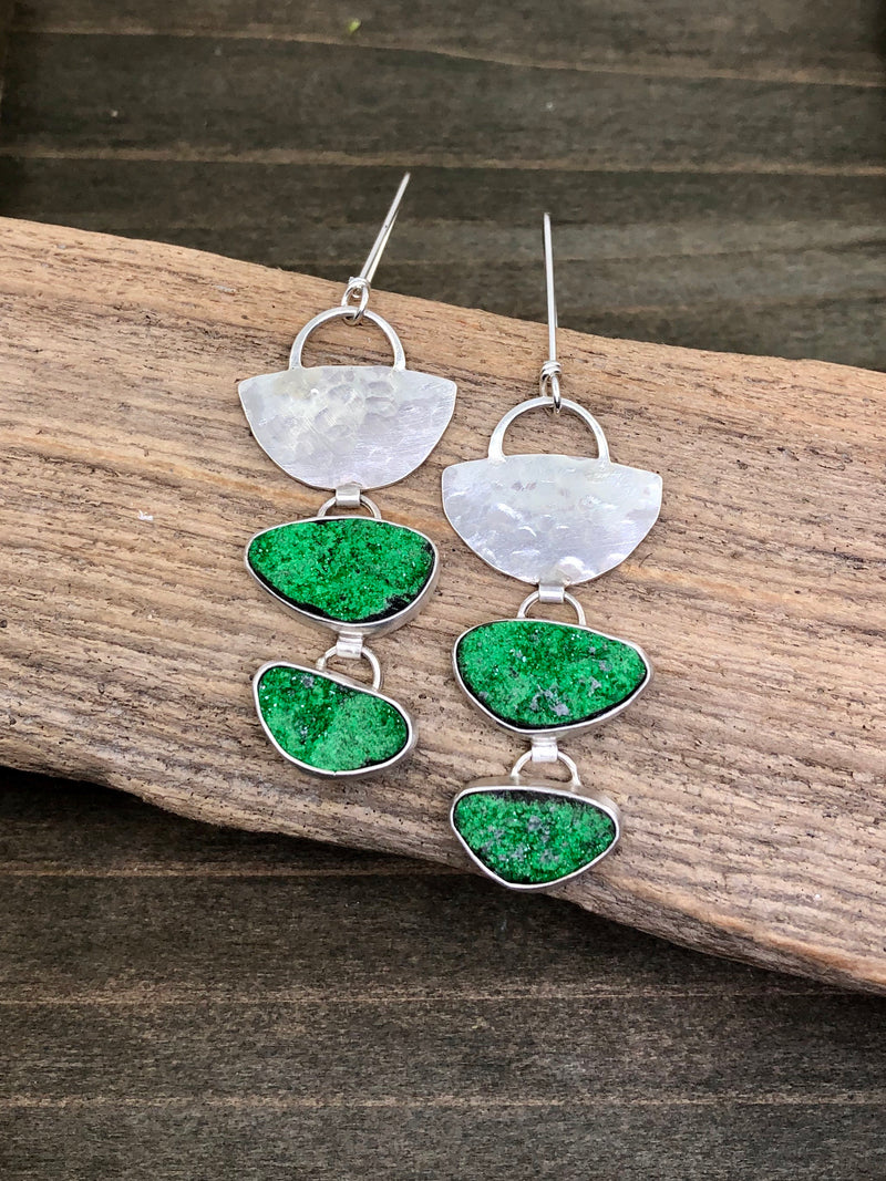 Green Tier Earrings