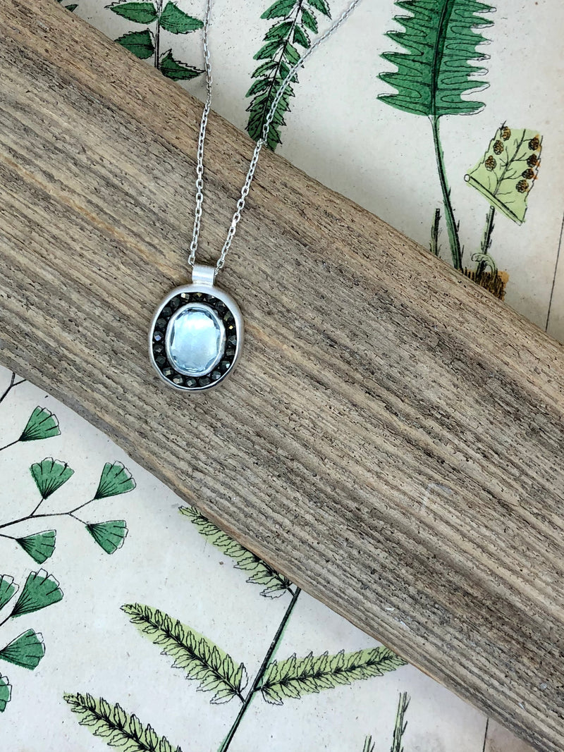 Aqua Water Drop Necklace