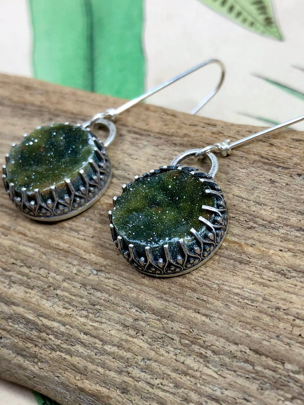 Mossy Moon Earrings