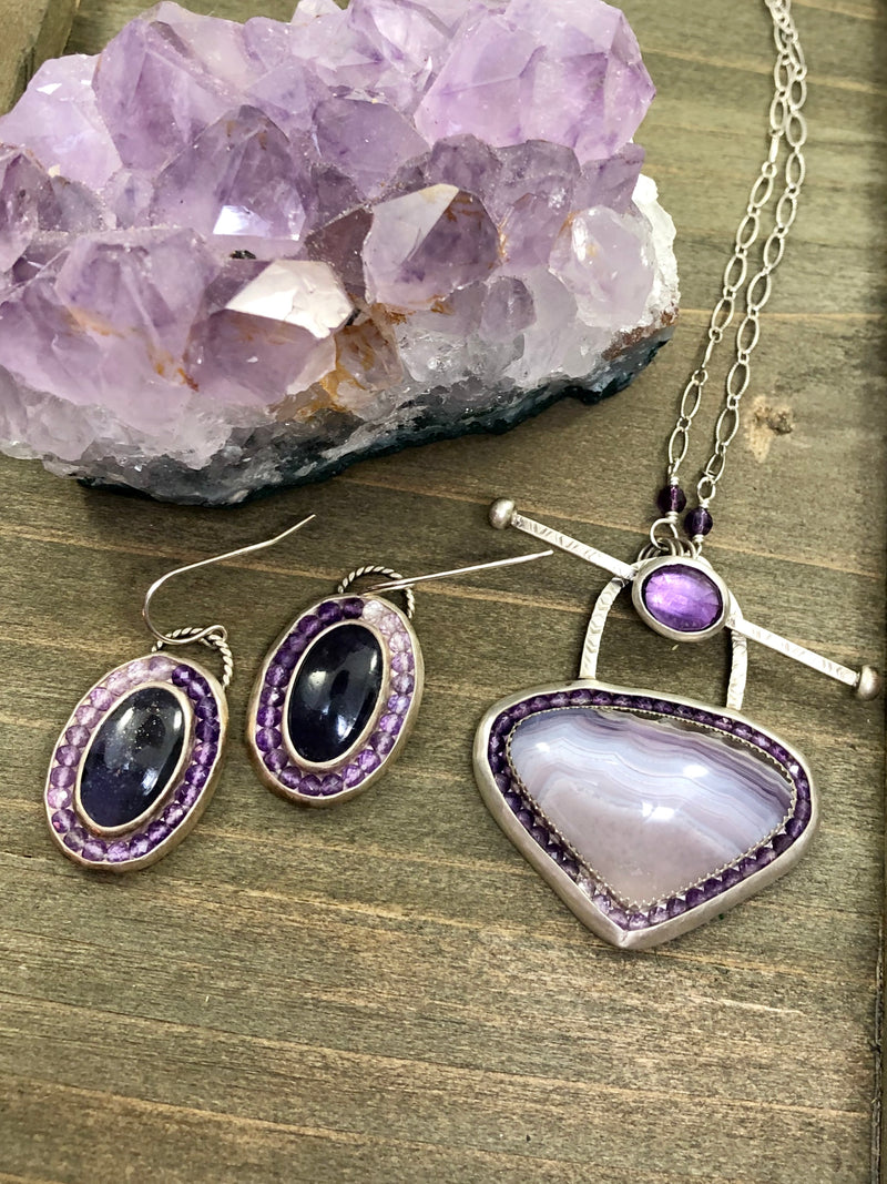 Purple Ombre Aurora Earrings