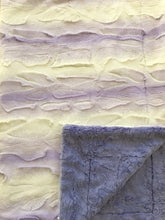 Load image into Gallery viewer, Luxe Cuddle Angora Lavender White on Luxe Cuddle Marble Iris