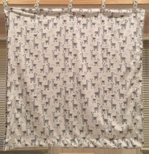 Load image into Gallery viewer, Baby Blanket with Michael Miller Alpaclettes in Stone on Frosted Zebra in Gray