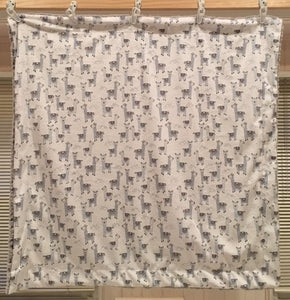 Baby Blanket with Michael Miller Alpaclettes in Stone on Frosted Zebra in Gray