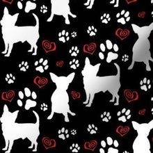 Load image into Gallery viewer, Spoonflower Chihuahuas Hearts and Paws