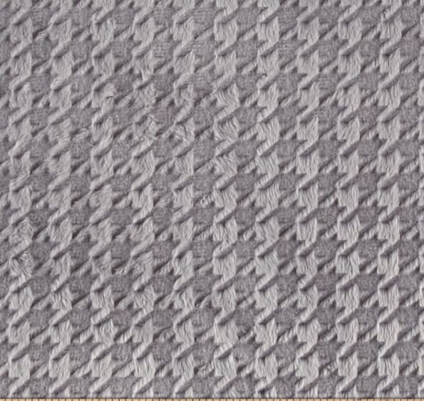Embossed Houndstooth in Silver