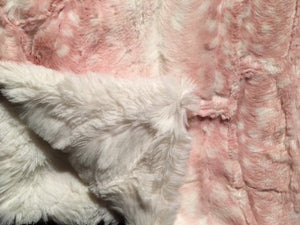 Blanket: Luxe Cuddle Fawn in Rosewater on Stella in Cream
