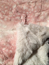 Load image into Gallery viewer, Blanket: Luxe Cuddle Fawn in Rosewater on Stella in Cream