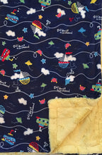 Load image into Gallery viewer, Sail Away in Navy on Luxe Cuddle Banana Hide