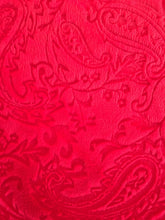Load image into Gallery viewer, Embossed Paisley in Red
