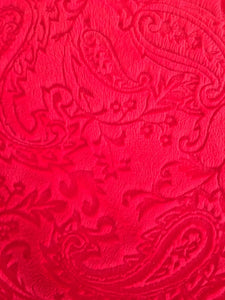 Embossed Paisley in Red