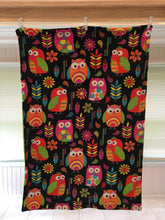 Load image into Gallery viewer, Heavenly Plush Minky Fleece Owl on Luxe Lime Dimple Dot
