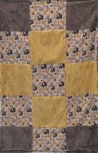 Load image into Gallery viewer, Jungle Dreams in Yellow Patchwork on Luxe Cuddle Silver Hide